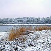 Ardingly Reservoir - Winter Snowy Scene Art Print