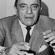 Aristotle Onassis, Circa Early 1970s Print by Everett