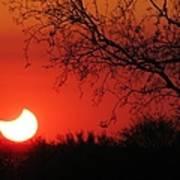 Arizona Eclipse At Sunset Art Print