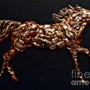 Arizona Fire Horse Art Print