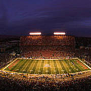 Arizona Stadium Under The Lights Print by J and L Photography
