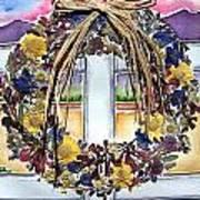 Arizona Wildflower Wreath Art Print by Regina Ammerman
