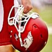 Arkansas Razorback Helmet Art Print by Replay Photos