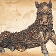 Arkansas Razorback Mascot Art Print by Annie Laurie