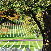 Arlington National Cemetery In The Fall  Art Print