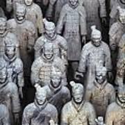 Army Of Terracotta Warriors In Xian Art Print