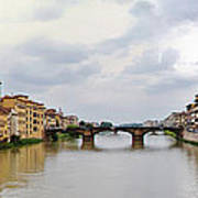 Arno River In Florence Italy Art Print