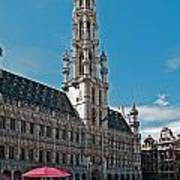 Art Reflecting Art In Brussels Art Print