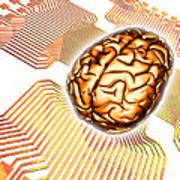 Artificial Intelligence, Computer Artwork Art Print
