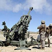 Artillerymen Fire-off A Round Art Print
