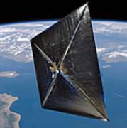 Artist Concept Of Nanosail-d In Space Art Print