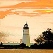 Artistic Madisonville Lighthouse Art Print