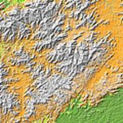 Artistic Map Of Southern Appalachia Art Print