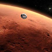 Artists Concept Of Nasas Mars Science Art Print