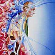 Artwork Depicting Parkinson's Disease Art Print