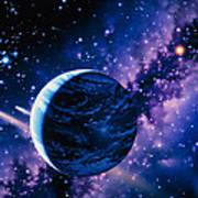 Artwork Of Comets Passing The Earth Art Print by Joe Tucciarone