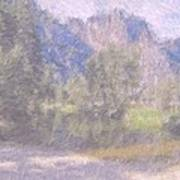 As If Monet Painted Yosemite Art Print