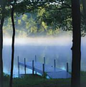 As The Lake Awakens Art Print