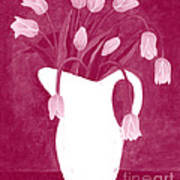 Ashes Of Roses Tulips Art Print