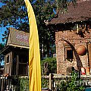 Asia Theming And Flags At Animal Kingdom Walt Disney World Prints Art Print