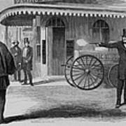 Assassination Of James King, Newspaper Art Print