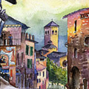 Assisi Street Scene Print by Lydia Irving