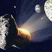 Asteroid Deflection Art Print