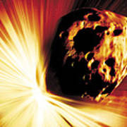Asteroid Deflection, Stand-off Explosion Art Print
