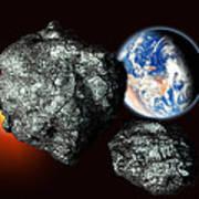 Asteroids Approaching Earth Art Print