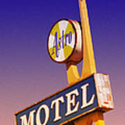 Astro Motel Retro Sign Art Print