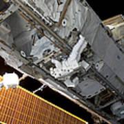 Astronaut Traverses Art Print