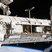 Astronauts Continue Maintenance Art Print