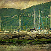 At Home In The Harbor - Atlantic Highlands  Nj Art Print