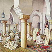 At Prayer In The Mosque Art Print