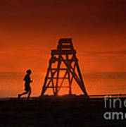 At The Beach In The Morning Art Print