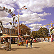 At The Prater - Vienna Art Print