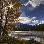 Athabasca River With Mount Fryatt Art Print