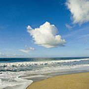 Atlantic Ocean Waves Break On The Beach Art Print
