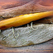 Atom A40 Vintage Saltwater Lure - Whiting Gold Art Print