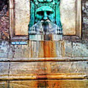 Au Non Potable A Fountain In Arles Art Print