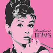 Audrey Hepburn - Pop Art Portrait Art Print