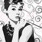 Audrey With A Twist Art Print