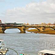 Augustus Bridge Dresden Germany Art Print