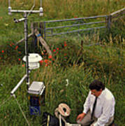 Automated Weather Monitoring Station Art Print
