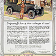 Automobile Ad, 1926 Art Print