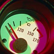 Automobile Oil Temperature Gauge; Low Temperature Art Print