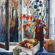Autumn At The Kitchen Window Art Print