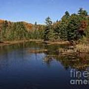 Autumn Day At The Lake In Algonquin Provincial Park Art Print