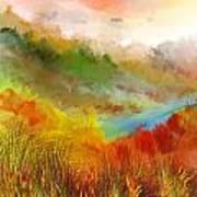 Autumn Daze Art Print