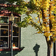 Autumn Detail In Old Town Grants Pass Art Print